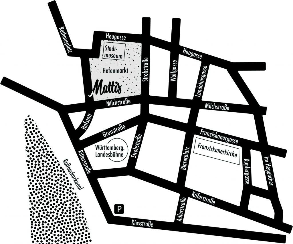 Anfahrt Mattis Esslingen und Parkmöglichkeiten